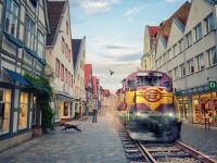 Composing Zug in Einkaufsstrasse