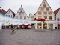 Composing Marktplatz Lemgo Flugzeug surfen